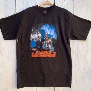 VTG Harley Davidson Alaska T-shirt XL